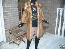 In style Opera Stone marten Sable Fur Coat Jacket S-8
