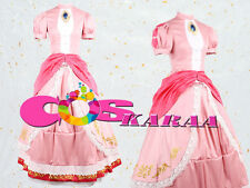 B002[Karaa]Super Mario Bros Princess Peach Cosplay Costume