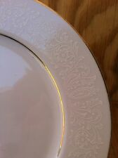 Norleans White Lace Large Dinner Plates Set Of 3 Fine China From Japan