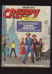 Amazing Tales Creepy Worlds 166 Living Statues British Comic 60s reprint GA