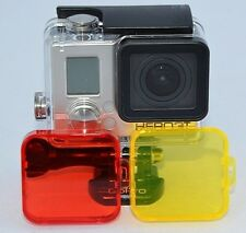 Red Dive Filter-Snap On Accessory GoPro Hero3+ Hero4 White Silver Black