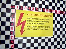 High Energy Ignition Sticker- Opel Manta GTE Monza Senator Chevette Cavalier SRi