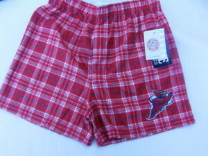 Iowa State Cyclones Youth Boys Plaid Red Pajama PJ Boxer Shorts Size 10-12 NEW