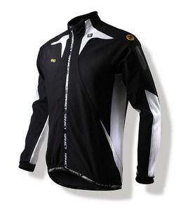 Spakct Fleece Windproof Cycling Velvet Jacket C6 Black/White L Sun Protective