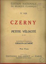 PARTITION CZERNY  PETITE VELOCITE n° 5028