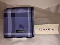 【Japan 】New Burberry Mini Handkerchief Blue Plaid with Horsemark