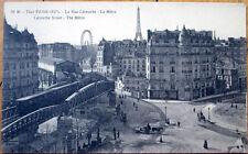 1910 Postcard: La Rue Lecourbe, Metro - Paris, France