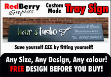 SIGN TRAY SHOP FRONT ANY SIZE 2 ORDER FOLDED COMPOSITE+INC FREE DESIGN + FIXINGS