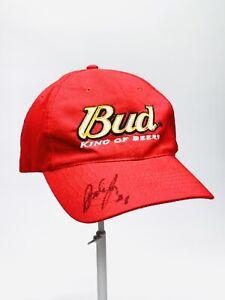 Dale Earnhardt Jr. NASCAR Budweiser #8 Autographed Signed Hat Cap Red Strapback