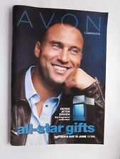 "Derek Jeter NY Yankees on Cover of Avon Catalog 2012 Ex Condition 5.5"" x 8"""