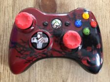 Microsoft Xbox 360 Wireless Limited Gear Of War Edition Red Controller !