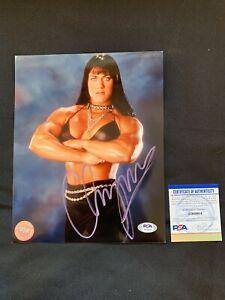 CHYNA Autographed LICENSED WWF (WWE) 8x10 Photo w/PSA DNA AUTHENTICATION