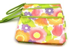 Lot of 5: Clinique Cosmetic Makeup Bag Zipper Pouch with Handle