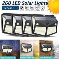260 LED Solar Power PIR Motion Sensor Wall Lights Outdoor Garden Path Yard Lamp