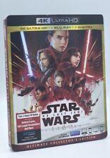Star Wars: The Last Jedi (4K Ultra HD+Blu-ray+Digital, 2018) NEW w/ Slipcover