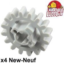 Lego technic - 4x engrenage pignon gear 16 tooth light bluish gray 94925 NEUF