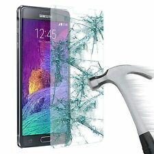 100% GENUINE TEMPERED GLASS FILM SCREEN PROTECTOR FOR SAMSUNG NOTE 4