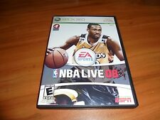 NBA Live 08 (Microsoft Xbox 360, 2007) Basketball used Complete X360
