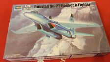 Trumpeter - Russian Su-27 Flanker B Fighter -1:72, 01660 Military Aircraft Model