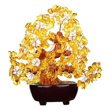 New Feng Shui Natural Citrine Gem Stone Crystal Money Tree 7 Inch Free Shipping