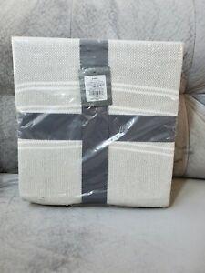 """Blanket Textured Stripe 100% Cotton Gray/Cream Pattern Threshold, 108""""W×92""""L New"""