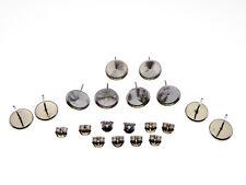 10 Stück 925 Silber Ohrstecker Rohlinge rhodinert  10mm  (CC10mm)