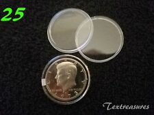 25-T30.6mm AIRTITE/DIRECT FIT COIN CAPSULE for KENNEDY HALF DOLLARS
