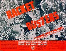 RACKET BUSTERS 1938 Humphrey Bogart George Brent Gloria Dickson TRADE ADVERT