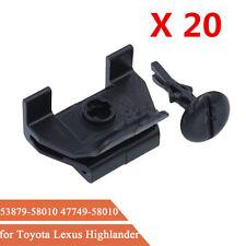 20x Front Fender & Bumper Cover Clip Fastener Kit 53879-58010 For Toyota Lexus