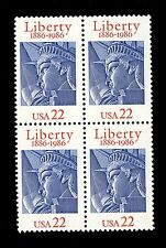 USA - 1986 Statue of Liberty 100th Anniversary block of 4x 22c Scott 2224