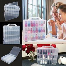 Clear Nail Polish Storage Box 48 Bottles Divider Container Display Holder Case