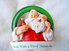 Vintage Christmas Ornament - SANTA TIRED THIRSTY FACE WITH COKE