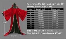 Medieval Priest Monk Robe-Hooded Cap Cloak for Wizard Sorcerer