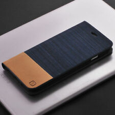 Flip Card Holder Wallet Folio Case Denim+Silicone Stand Cover For Samsung S8 LG
