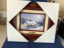 silent night Thomas Kinkade 5x7 framed painting Brand New in Box Genuine