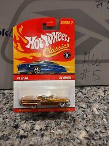 Hot Wheels Classics Series 3 #4 Gold  '58 Chevy Impala VHTF