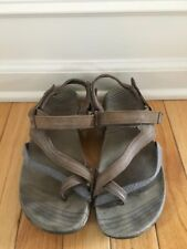 MERRELL FEESIA BUNGEE BROWN LEATHER STRAPPY SZ 7/38 GREAT SOLES
