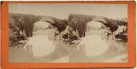 Pont Da Bétharram Pyrenees Fotografia Stereo Vintage Albumina c1870
