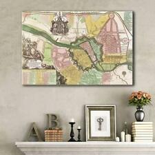Wall26 - Vintage Map of Berlin Gallery - Canvas Art Wall Decor - 24x36 inches
