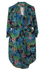 Full Length Polyester None Floral Coats & Jackets for Women