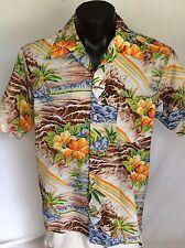 Rai Nani  Exceptional Hawaiian Shirt Aloha Tropical Floral Hibiscus
