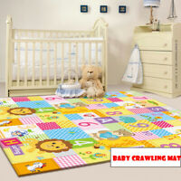 Soft LDPE Foam Baby Kids Game Gym Play Mat w/  Crawling Carpet Floor Rug Pad USA
