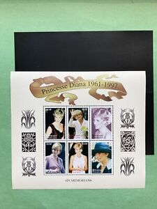 Princess Diana ' In Memoriam ' Stamps from Togo W/Mount