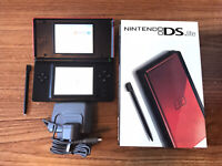 Nintendo DS Lite Red & Black Console Handheld System NDS GRADE A BOXED