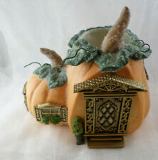 New ListingPartylite Pumpkin Cottage Tealight Candle Holder P8209 House Halloween Figure #1