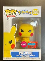 FUNKO POP POKEMON PIKACHU FLOCKED NYCC EXCLUSIVE SHARED MINT
