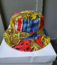 Moschino Couture! Milano Multicolor Printed Bucket Hat size Medium made in Italy