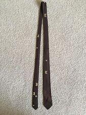 50's 60's Brown VTG Skinny Tie Rare Original Mid Century
