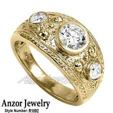 Men's Genuine GIA Diamond Ring 18k Solid Yellow Gold Ring 16.00gr US  #R1992