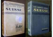 "Guide Bleu "" SUISSE "" Schweiz Switzerland 4 panoramas 1935 !"